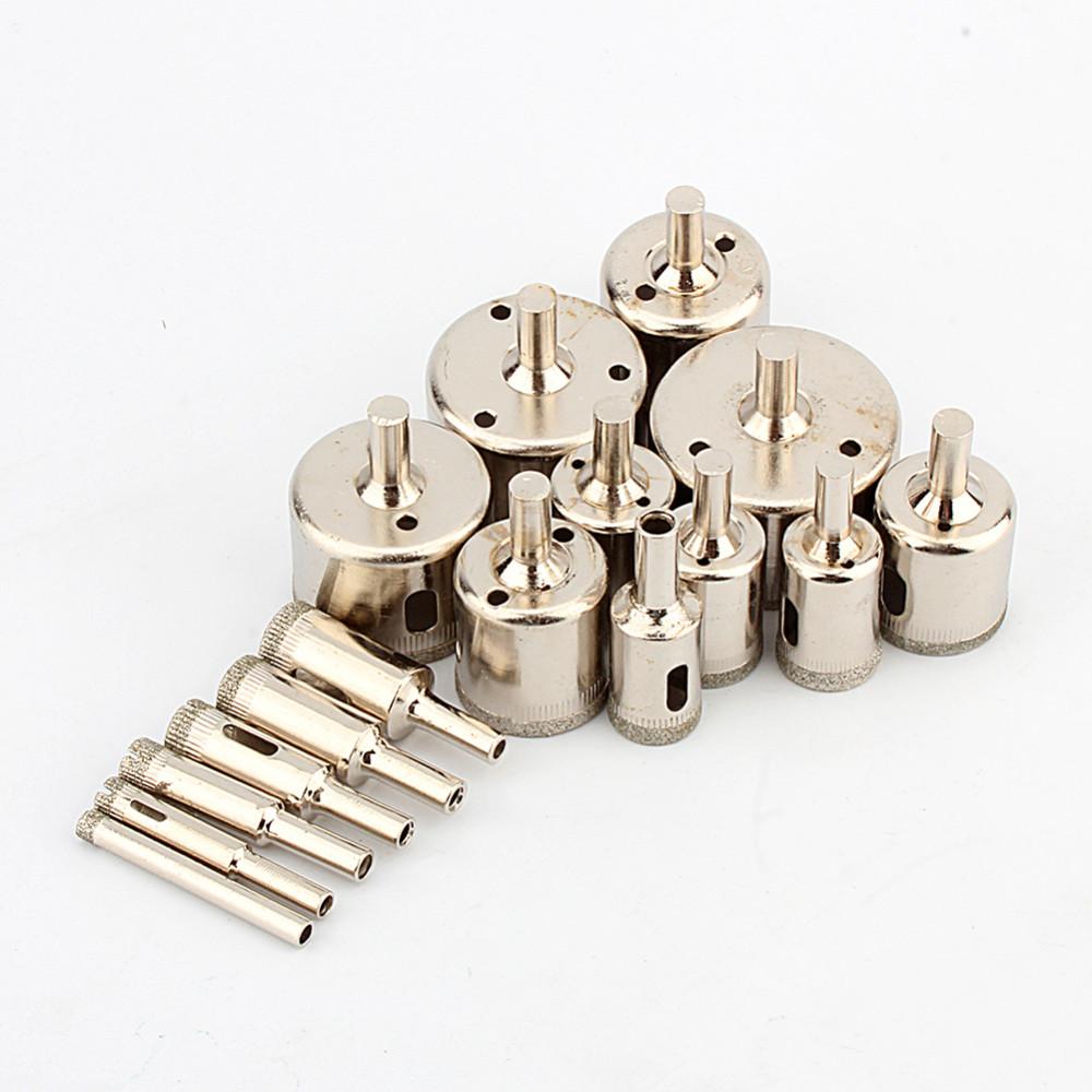 Купить 16 шт./компл. 6 мм-50 мм С Алмазным Покрытием Отверстие Увидел Сверло Мраморный Керамическая Плитка дешево