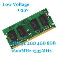 1 35V Low Voltage Laptop Memory Ram DDR3 1333MHz 1600Mhz 2GB 4GB 8GB For Notebook Sodimm