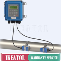 TUF 2000B TM 1 Transducer DN50mm DN700mm Ultrasonic liquid flow meter IP67 protection wall mounted type flowmeters