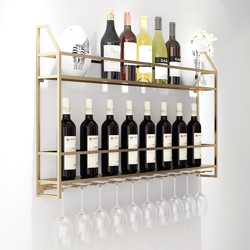 Simple Modern Red Wine Rack Wall Mount
