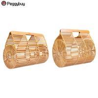 Fashion Female Creative Bamboo Basket Bag Women Summer Beach Hollow Out Casual Totes Handbags High Quality Handmade Bags