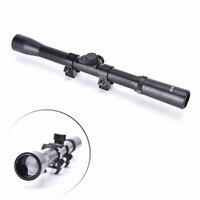 4x20 Air Gun Optics Scope Riflescope Telescope + Red Laser Sight+ 20mm Mount For 22 Caliber Rifles/Airsoft Guns