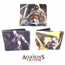 Assassin's Creed Wallet With Tags Assasins Creed Game Assassins Creed Wallets Men Purse Cosplay Costume Accessory Props Toy