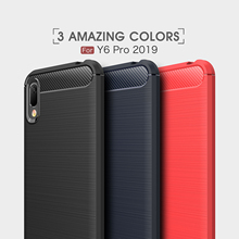 For Huawei Y6 Pro 2019 Y7 2017 Prime 2018 Case Soft TPU Carbon Fiber Y9 Cover
