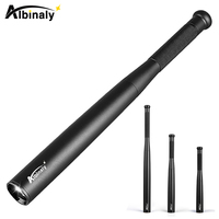 Albinaly Baseball Bat LED Flashlight 3800 Lumens Super Bright Baton Aluminium Alloy Torch For Emergency And