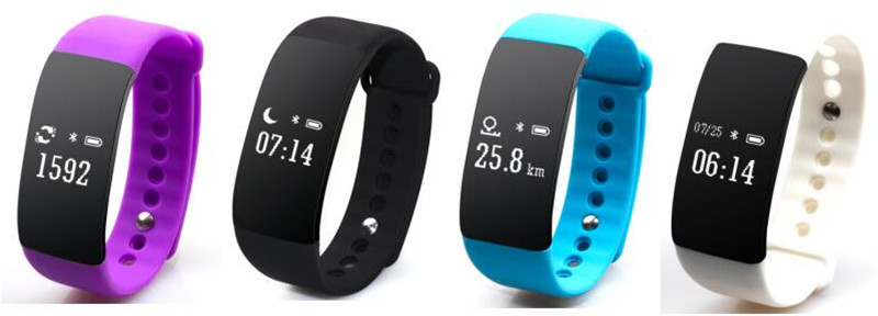 V66 Smart Wristbands Sport Band Intelligent Bracelet Calls Reminder Heart Rate Monitor Waterproof Anti theft silicone