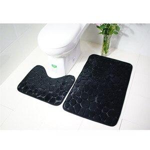 Image 3 - 2 adet kaymaz emme kavrama banyo paspas banyo mutfak halı paspas 3d banyo kilim tapis de bain 3d tapis de bain #40
