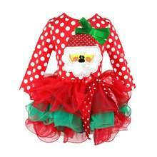 Lovely Girl Dress Christmas Costumes Long Sleeve Princess Dresses Kids Party Clothing