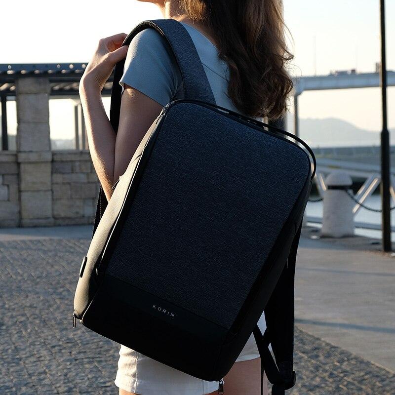 Krion FlexPack 2019 חדש נגד גנב אופנה גברים תרמיל רב תכליתי עמיד למים 15.6 אינץ מחשב נייד תיק איש USB טעינת נסיעות