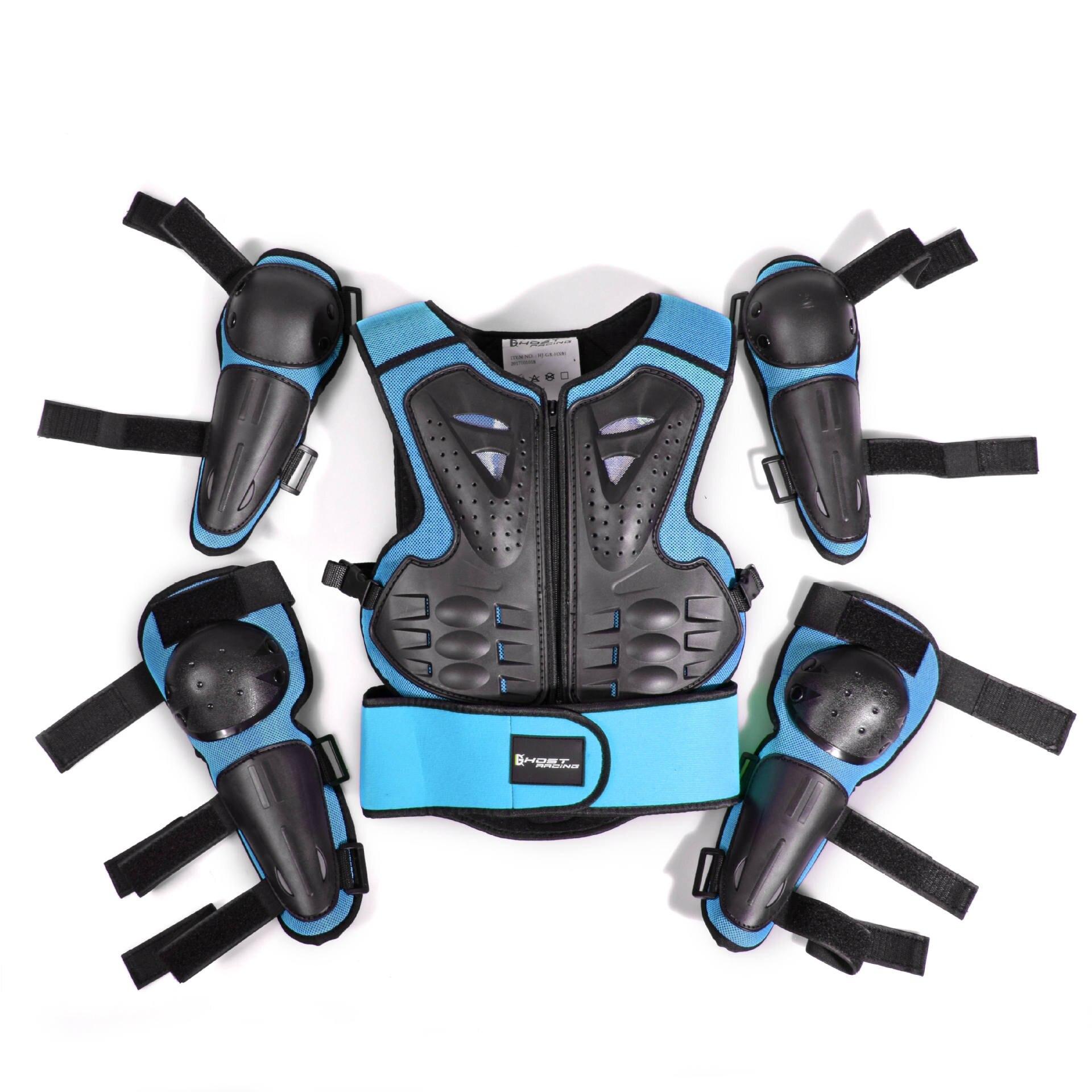 オートバイのジャケット子供乗馬保護アーマーバイクモトクロス機器レーシングボディアーマーサイズ用 Ptotective 年齢 5 12  グループ上の 自動車 &バイク からの ジャケット の中 1