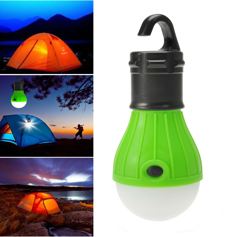3 Led Work Light Camping Hiking Tent Lamp Hook Battery