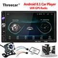 Autoradio universel 2 din lecteur Android MP5 ecran tactile GPS Navigation Autoradio Android Wifi lecteur multimédia voiture Mirrorlink