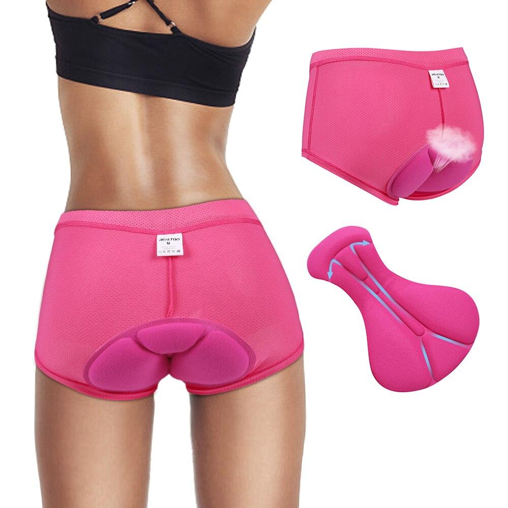 Women/'s Cycling Padded Underwear Shorts Briefs 3D Gel Pad Shorties XL