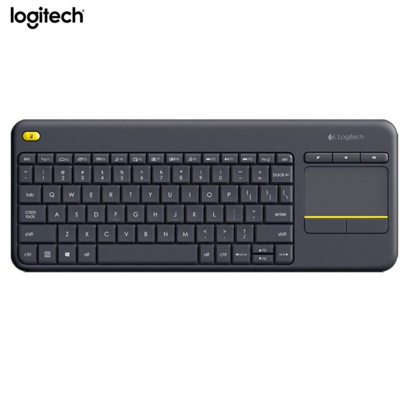 Logitech Clavier Tactile Sans Fil K400 Plus avec Pavé Tactile Intégré pour Internet-Tv Connectées
