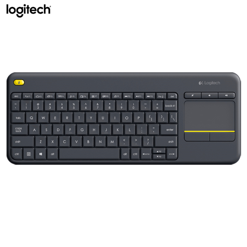 лучшая цена Logitech Wireless Touch Keyboard K400 Plus with Built-In Touchpad for Internet-Connected TVs