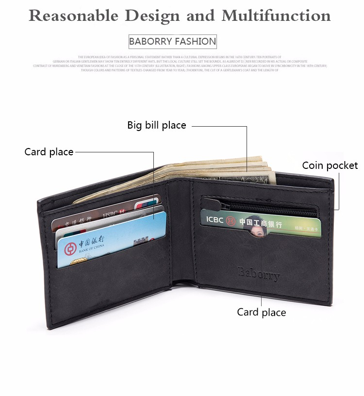 Coin Bag zipper 17 New men wallets mens wallet small money purses Wallets New Design Dollar Price Top slim Men Wallet For Male 13