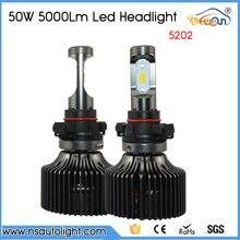 Free Shipping Super Bright 5202 h16 Led Car Headlight Conversion Kit Fog Lamp Bulb DRL 100W 10000LM 6000K 10V/30V DC Wholesale