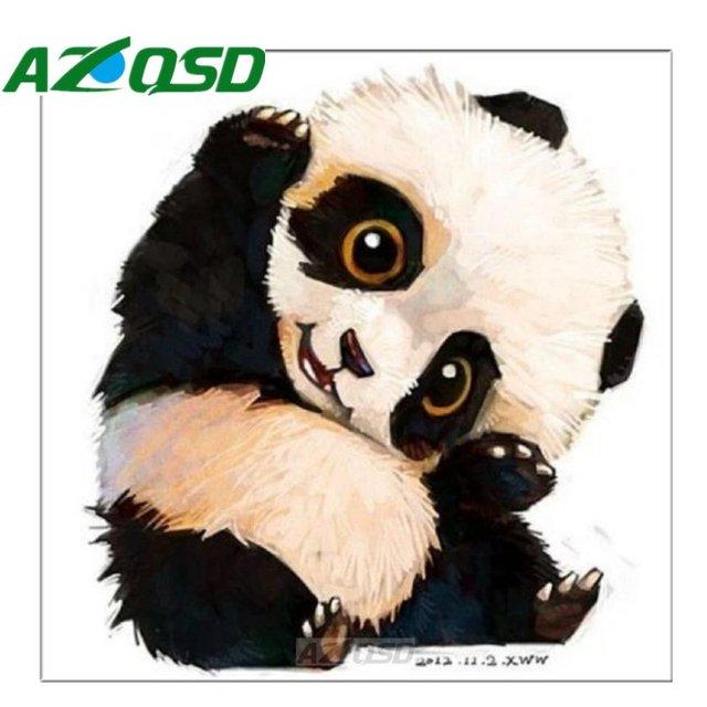 AZQSD Full Square Diamond Embroidery Animal Home Decoration DIY Diamond  Painting Cross Stitch Mosaic Painting Panda