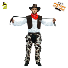 QLQ adults western cowboy suits halloween costumes for men masquerade cosplay