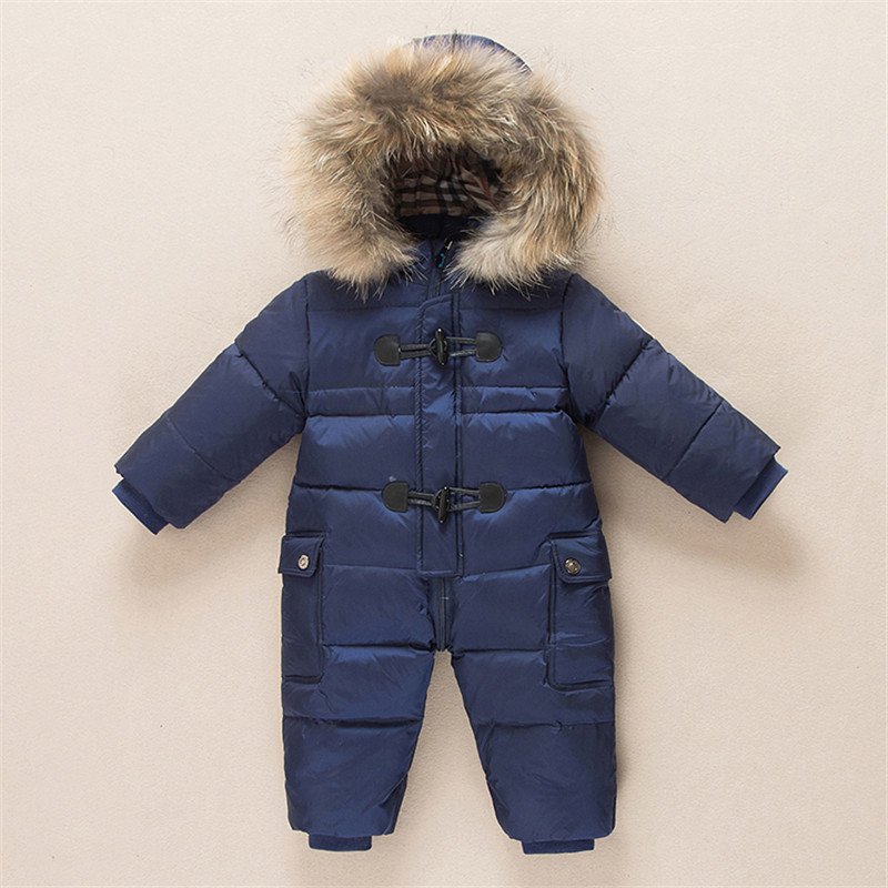 2d40ef54f52c 2016 Winter Baby Girls Boys Cotton Jacket with Scarf Duck Down ...