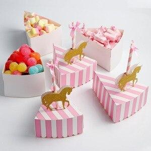 OurWarm Baby карусель аксессуары для вечеринки, день рождения, свадебная бумажная подарочная коробка для конфет с единорогом торт Топпер