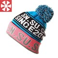 CaiZhongHai/B51 Color Carta Jacquard Pom pom Sombreros de Invierno para Las Mujeres de Los Hombres Beanie Ski Skullies Beanie Sombreros De Punto Caliente tapas