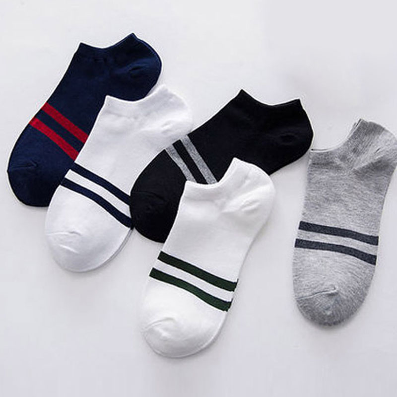 Hot 10 Pairs Women Men Socks Stripe Cotton Short Ankle Breathable For Sports Running MCK99