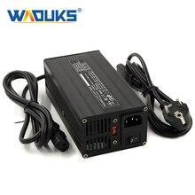54.6 v 6a carregador de bateria 54.6 v li ion carregador para 10 s 48 v lipo/limn2o4/licoo2 bateria bloco totalmente automático carga rápida