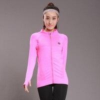 Vertvie Women Zipper Yoga Shirt Long Sleeved Shirt Hoodies Yoga Fitness Running Quick Drying Sports Jacket