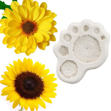 Daisy Sunflower Stamen Silicone Mold Fondant Mould Cake Decorating Tool Chocolate Gumpaste Sugarcraft Kitchen Accessories