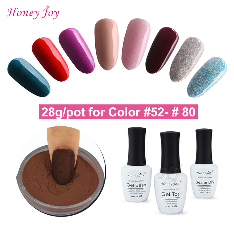 28g/Box Nude Color Collection Dipping Powder No Lamp Cure Nails Dip ...