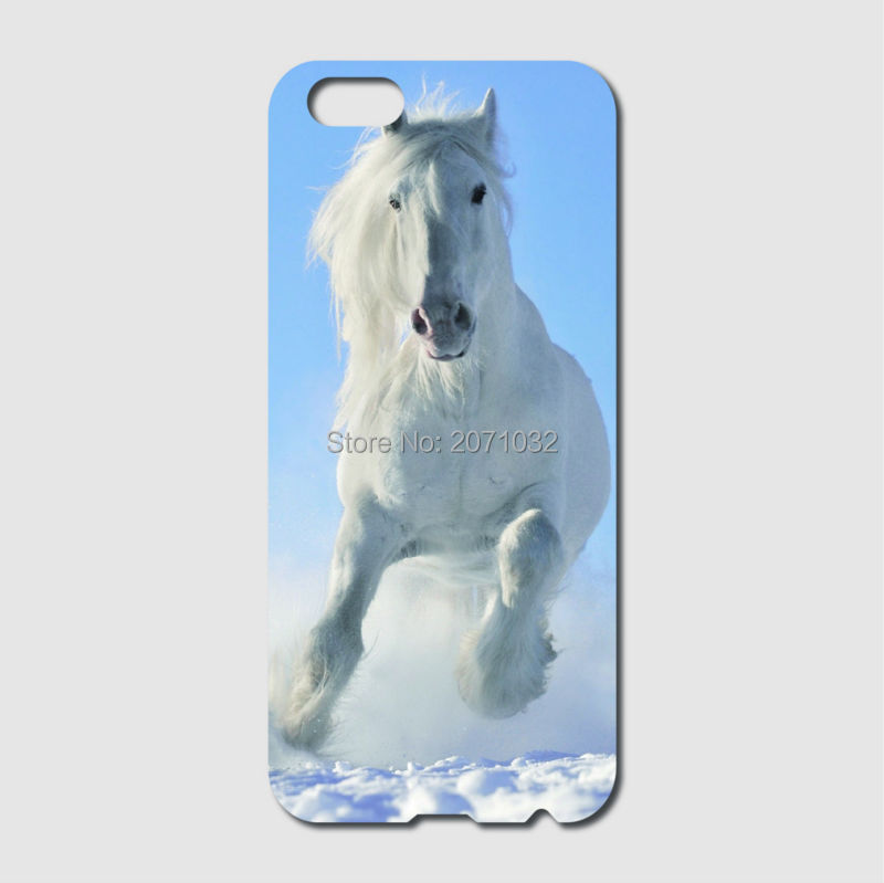 detailed look f6e0b 8e3ab US $3.38 11% OFF|White horse Case For iPhone 6 6S 7 8 Plus X 5 5S 5C 4S  iPod Touch 5 4 For Samsung Galaxy S2 S3 S4 S5 Mini S6 S7 Edge Note 3 4 5-in  ...