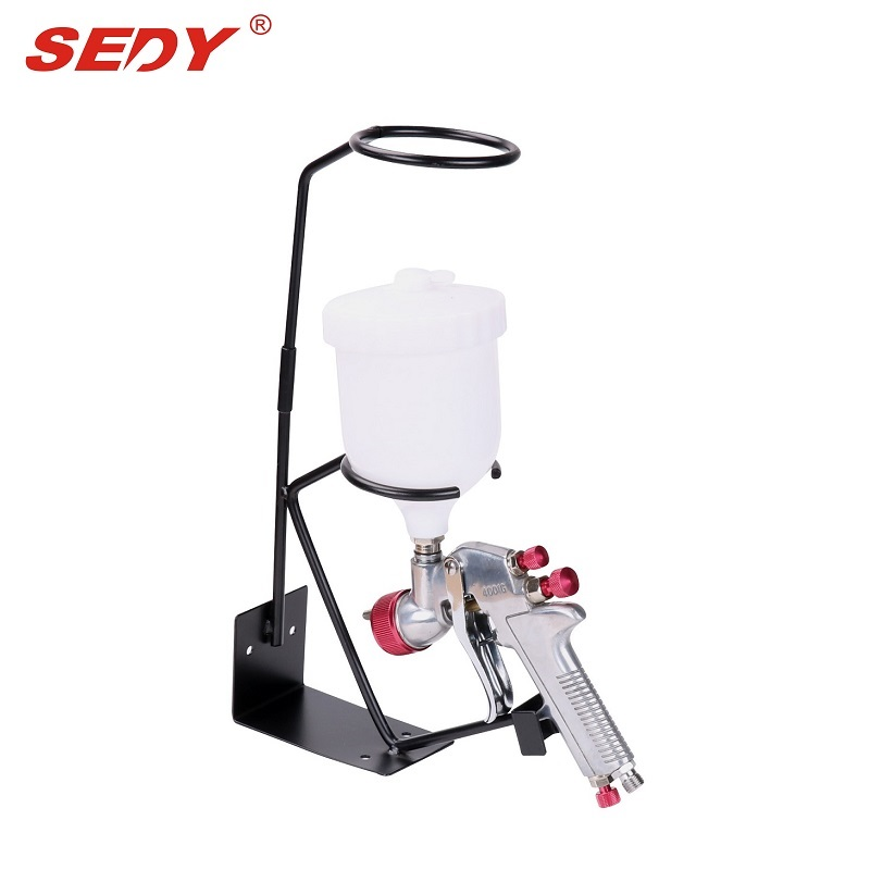 Spray Gun Gravity Feed HVLP PAINT SPRAY GUN 1.8mm Nozzle 600ml Pot + Stand Holder e887g hvlp spray gun set suitable for spraying primer gravity feed with 1 4mm nozzle 600ml pot