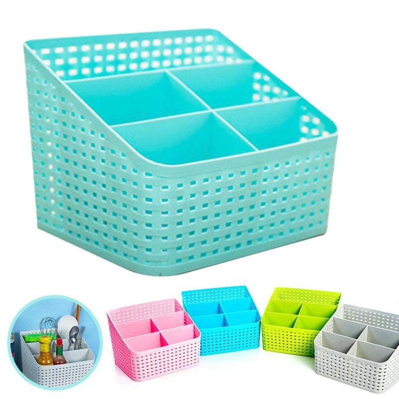 Multi-function sub-grid desktop Cosmetic Storage Box Finishing basket Jewelry Container Makeup Organizer Case 5 grid V3