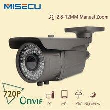 MiSecu ONVIF 1280*720 1.0MP IP Camera 78 IR leds 2.8-12mm Zoom Lens IP66 Outdoor Camera P2P CCTV Network Surveillance Security