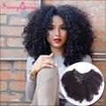 Clip En Extensiones de Cabello Humano Afro Rizado Rizado Indio Virginal Natural Del Pelo Clip En la Extensión Del Pelo 7 UNIDS Pelo Rizado extensiones