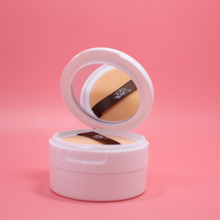 1pcs empty loose powder jar with sifter mirror Cosmetic ...