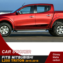 free shipping 2 PC body side waist gradient  styling graphic vinyl for mitsubishi l200 triton
