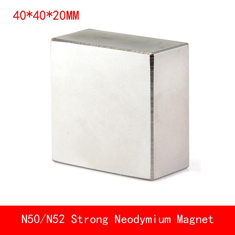 block 40x40x20mm rare earth Magnet N50 N52 Neodymium Magnets surface plated nickle 40*40*20MMblock 40x40x20mm rare earth Magnet N50 N52 Neodymium Magnets surface plated nickle 40*40*20MM