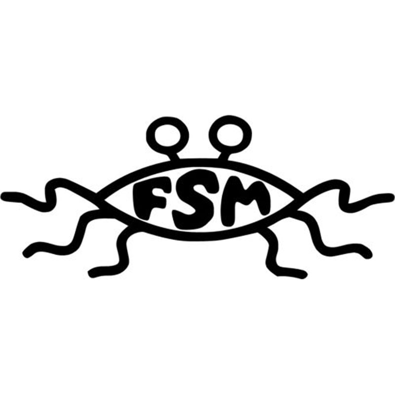 187cm77cm Fsm Flying Spaghetti Monster Decal Car Sticker And