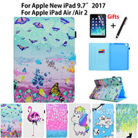 Fashion Colorful PU Leather Case For Apple New IPad 9 7 2017 A1822 Cover For IPad