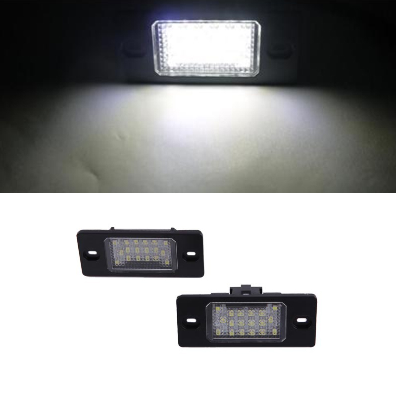 HOPSTYLING 2x 18PCS 3528 SMD LED License Plate Light Lamp for Porsche Cayenne VW Touareg Passat  auto-styling tuning lighting