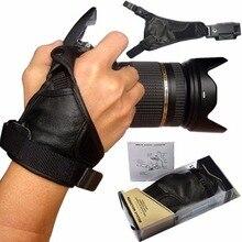 Genuíno Couro Câmera Aperto de Mão Alça de Pulso do Cinto Para Nikon D7300 D7100 D7200 D500 D810A D3300 D3200 D7000 D3100 D90 D5