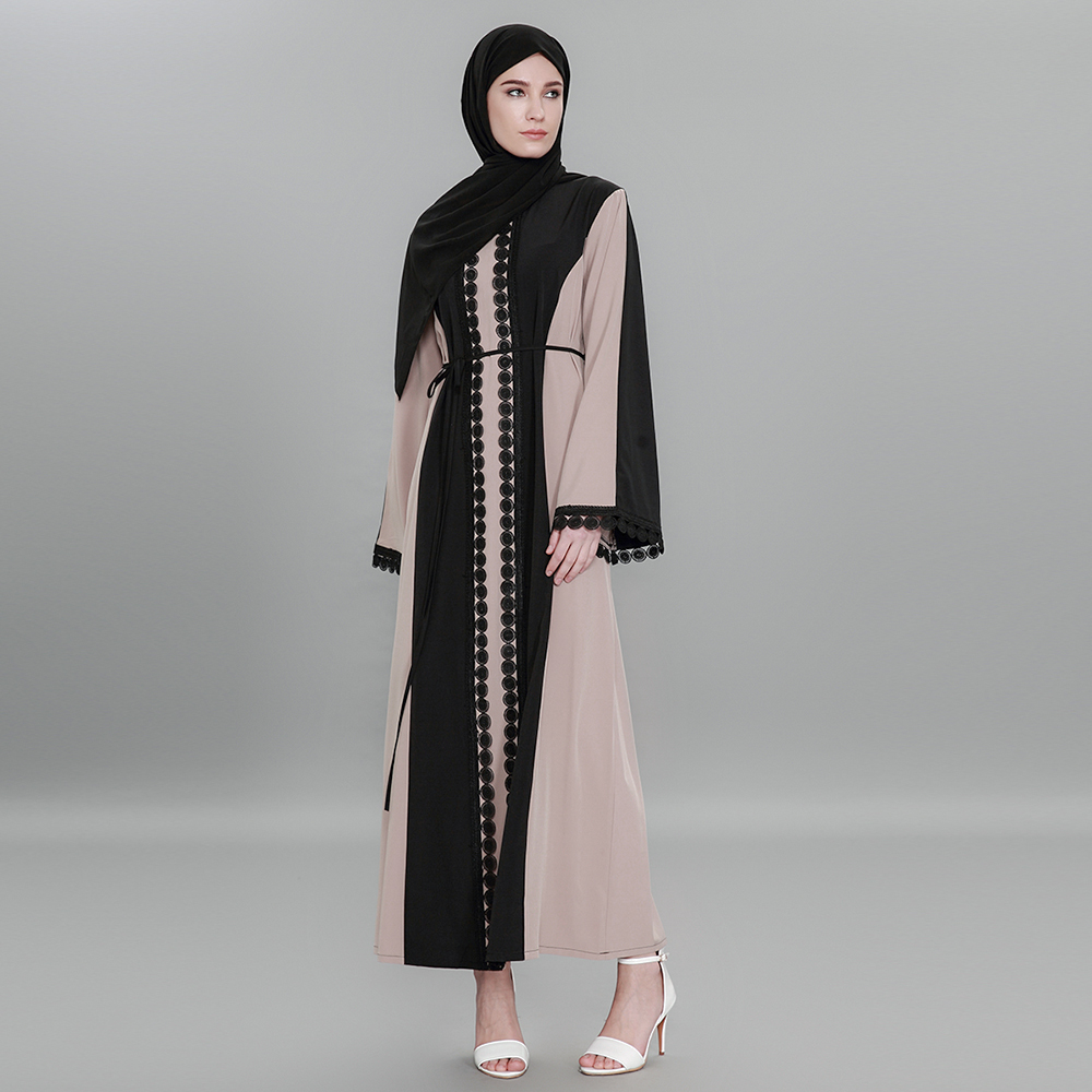 Middle Eastern Muslim loose waist large size dress female 1583