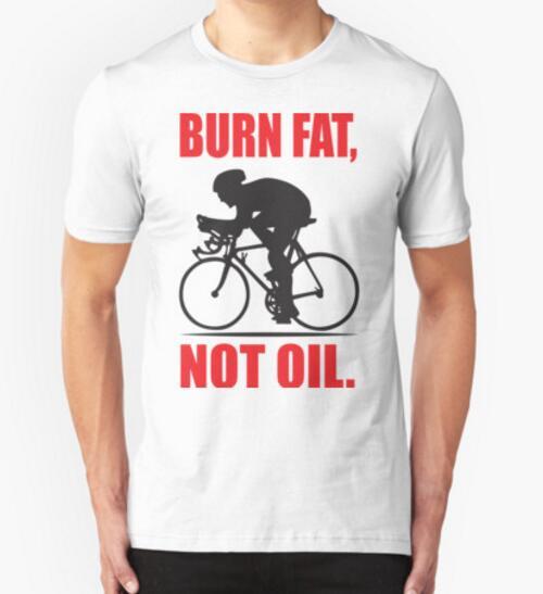 Hot Selling Burn fat not oil Vintage MTB Mens T-shirts Unique Custom Biker T shirts Men Men cotton top tees free shipping