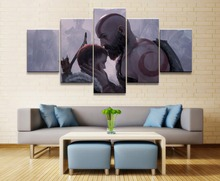 God of War 4 Game 5 Piece Modern Home Decor HD Print Wall Art Canvas For Living Painting Artwork