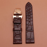 Promotion Alligator Leather Watchbands 18mm buckle 16mm new deployment stainless steel clasp special straps shorter 55mm+95mm