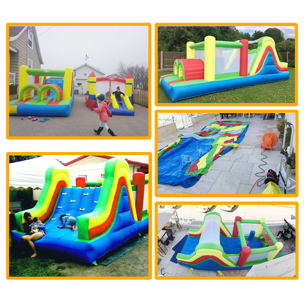 HTB1.j.zSXXXXXa3XVXXq6xXFXXXb - YARD Residential Inflatable Bouncer Bounce House Combo Slide for Children with Air Blower