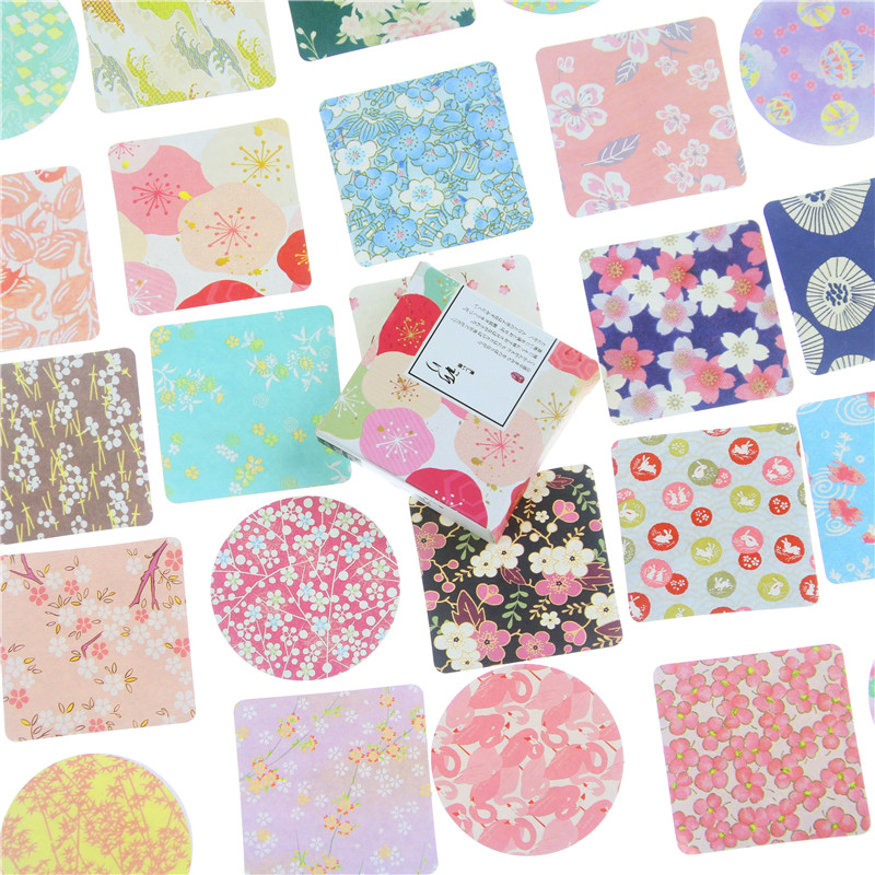 40 Pcs/box MISS TIME Colorful Flowers Paper Sticker Decoration DIY Diary Scrapbooking Sealing Sticker Stationery