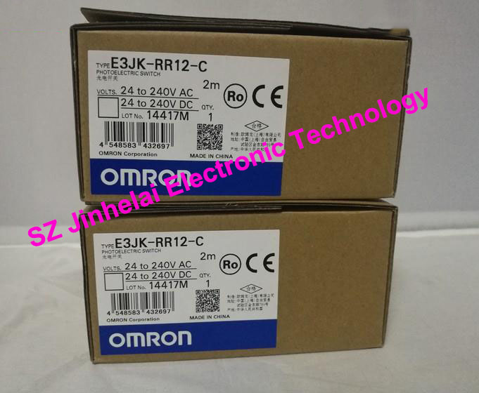 100% New and original  E3JK-RR12-C  OMRON Photoelectric switch Specular reflection relay output  2M [zob] new original omron omron photoelectric switch e3s at11 2m e3r 5e4 2m